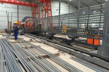 Harga terbaik dikimpal wire mesh mesin roll, Memperkukuhkan sangkar kimpalan pengimpal diameter 500-2000mm